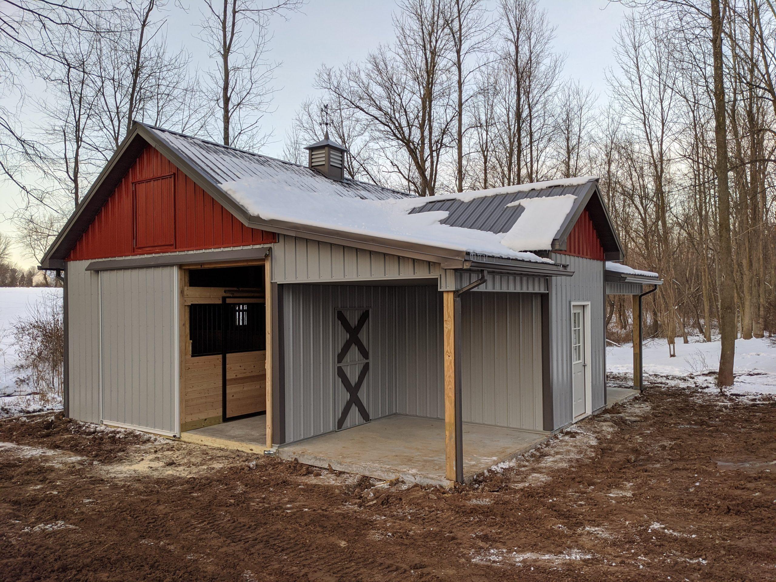 Custom Built Horse Barn