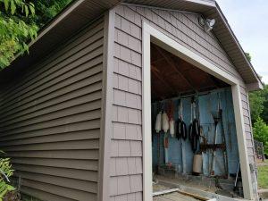 Boathouse siding