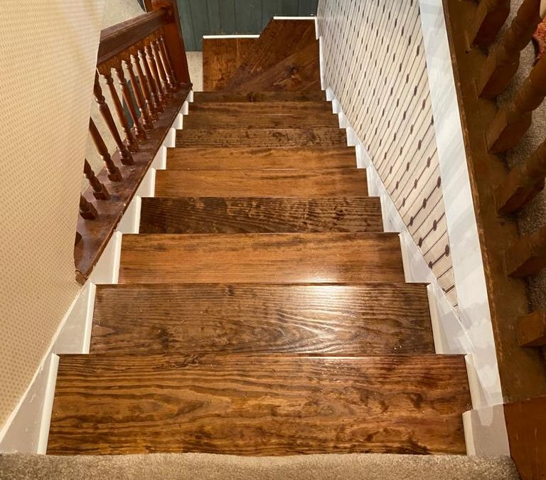 Stained Interior Stairs