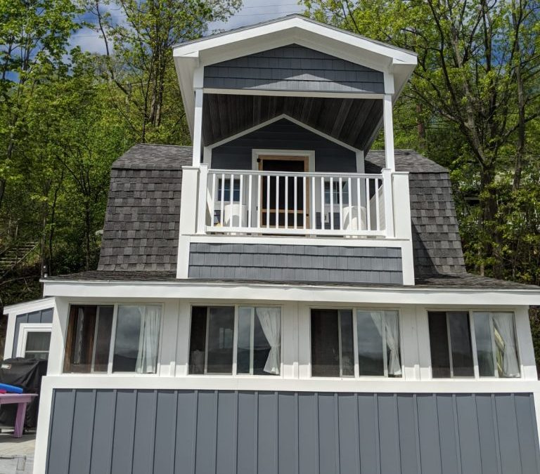 Lakefront Home gets New Porch, Stairway and Siding