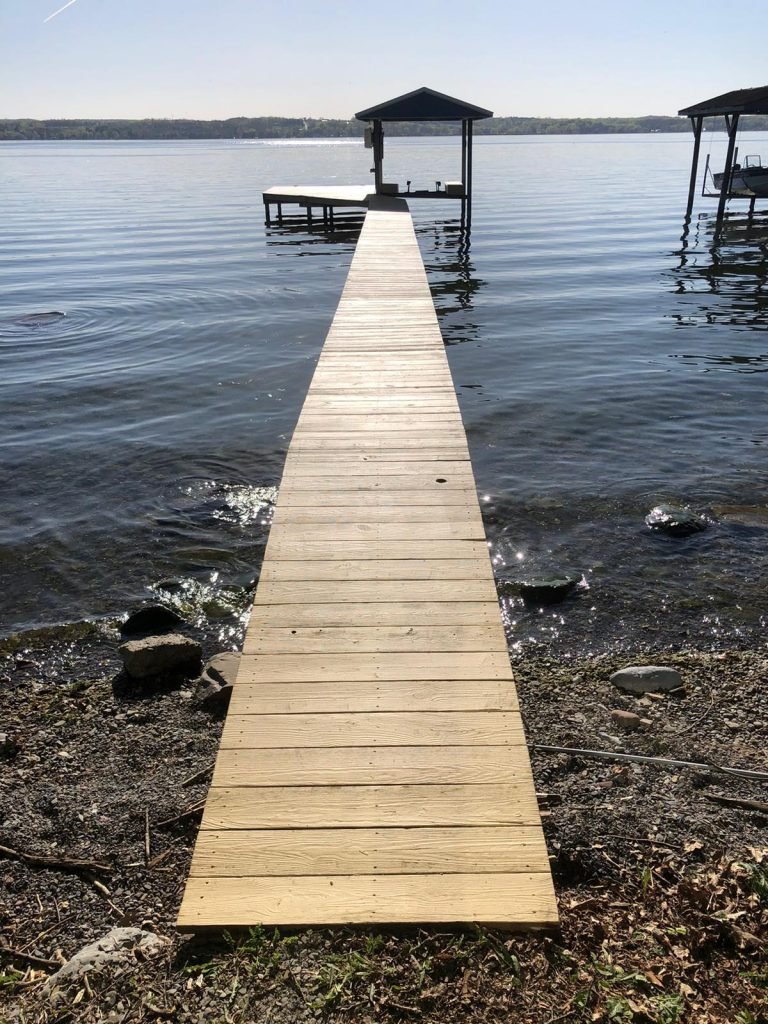 solid stain dock
