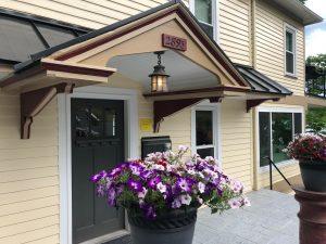 trim details on exterior paint job