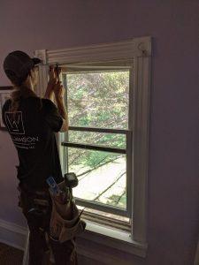 elijah tearng out old window