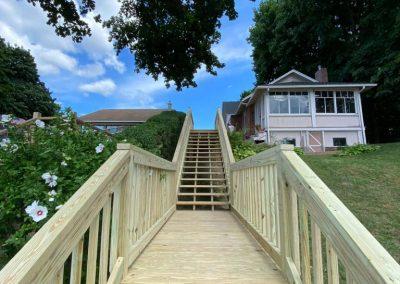 Pressure Treated Exterior Stairway