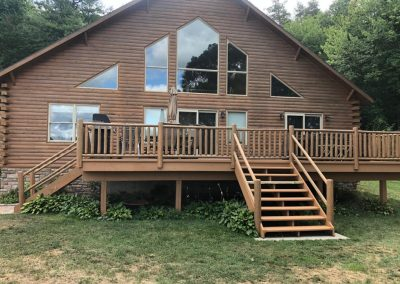 Home with Exterior Stain