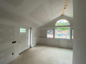 interior picture of drywall in new addition