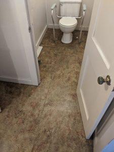 """""""before"""" Bathroom floor remodel"""