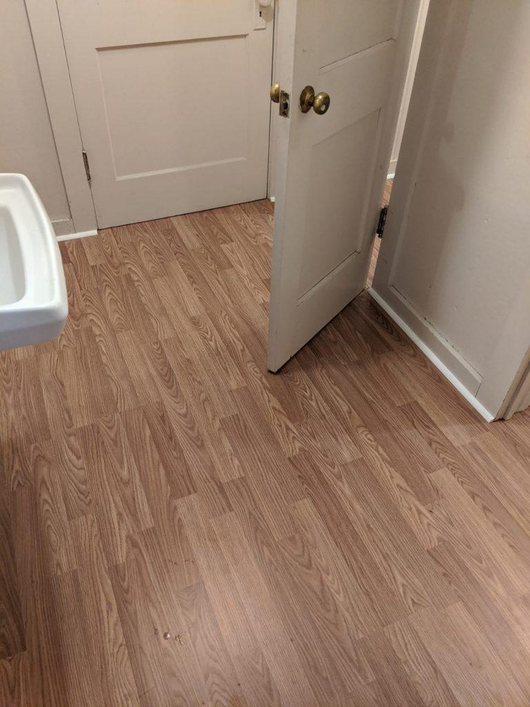 vinyl wood flooring in bathroom
