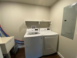 Laundry room in house remodel