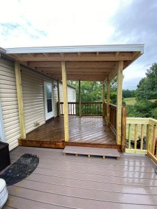"""""""after"""" porch remodel"""