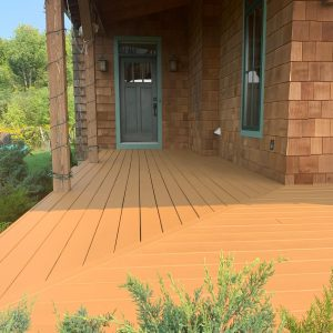 power wash and stain