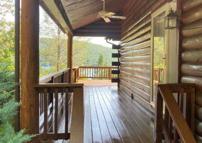 Log Cabin Stain Job