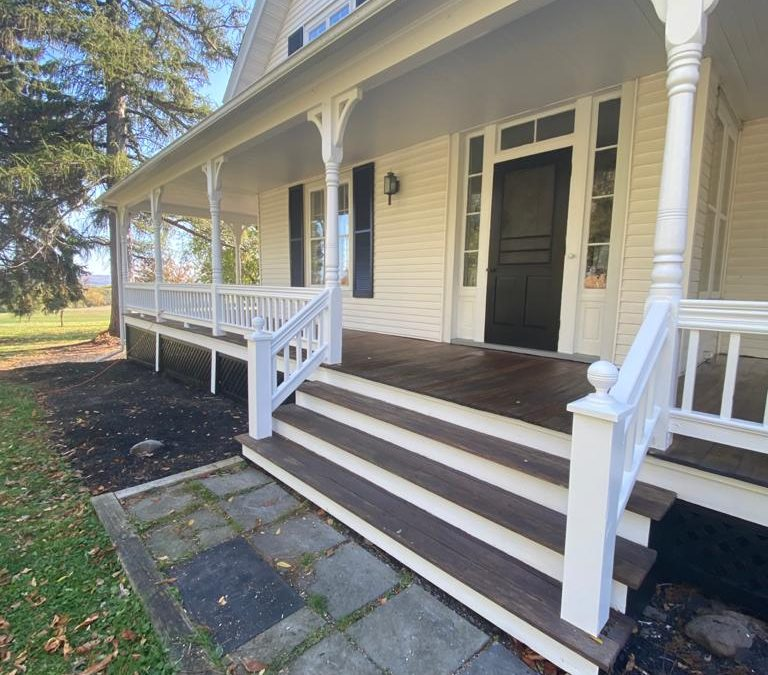 Stained Mahogany Porch