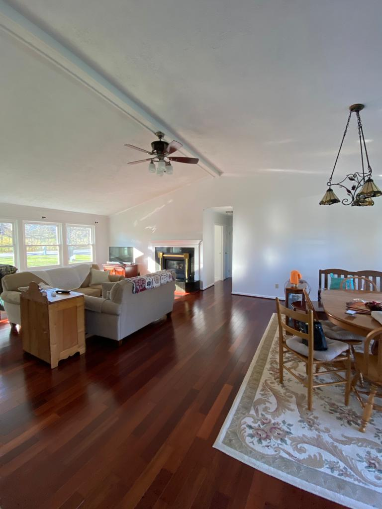 interior home painted white ceiling walls and trim