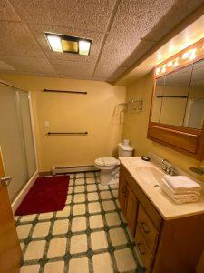 Before painted bathroom